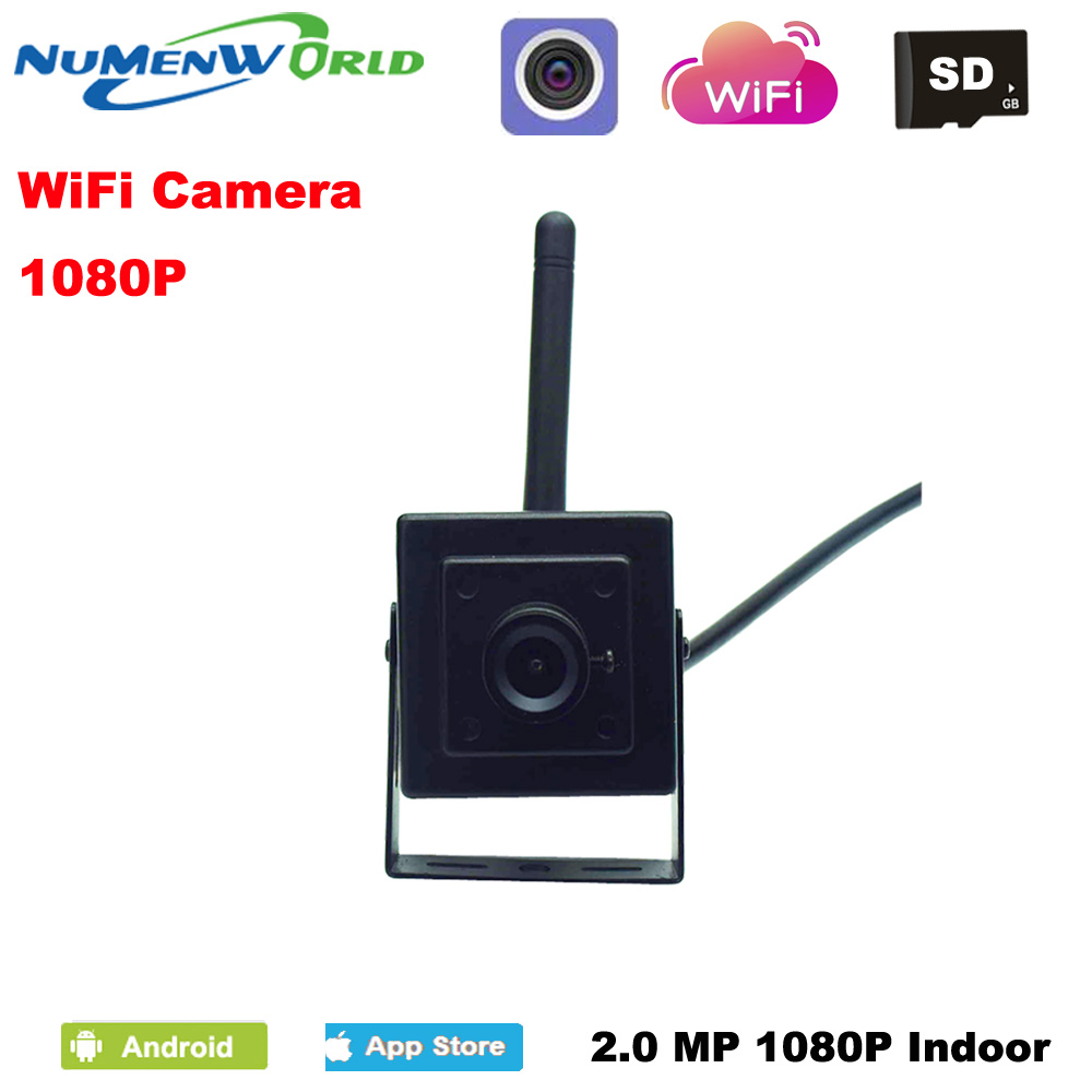 Mini wifi IP camera 1080P HD P2P 802.11b/g/n network IP Camera Micro TF Card wireless Surveillance Camera for home use