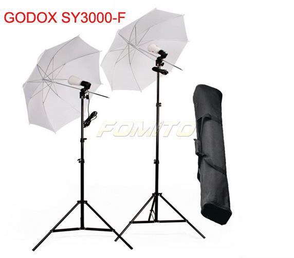 GODOX AC Esclave kit de Flash SY3000-F 55WS, 2 Têtes de Flash Studio Photographie pour accessoires de Studio photo, éclairage vidéo kit SY3000