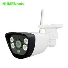 Cámara IP inalámbrica 720 P HD P2P ONVIF 802.11b/g/n wifi red IP Con Conexión de Cable IR Cámara Al Aire Libre Cámara IP a prueba de agua de Plástico ABS