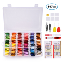 108 Colors Embroidery Thread Floss Sewing Cotton Needle Craft Sewing Floss kit DIY Sewing Tools Embroidery Thread With Box