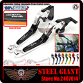 fits For HONDA CBR 600RR 2003 2004 2005 2006 Black Motorcycle Adjustable Folding Extendable Brake Clutch Levers logo CBR600RR