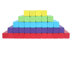 Image 2 - MITOYS 60 PCS colorful Wooden blocks Tower Blocks Toy Domino Stacker Board Game Family/Party Funny Extract Building Blocks
