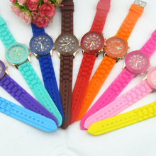 Goods In Stock Geneva Silica Gel Wrist Watch Korean Fashion
