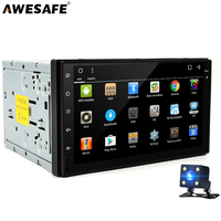 2 Din GPS Android 4 4 Car DVD Player Radio Stereo Video 1024 600 With Microphone
