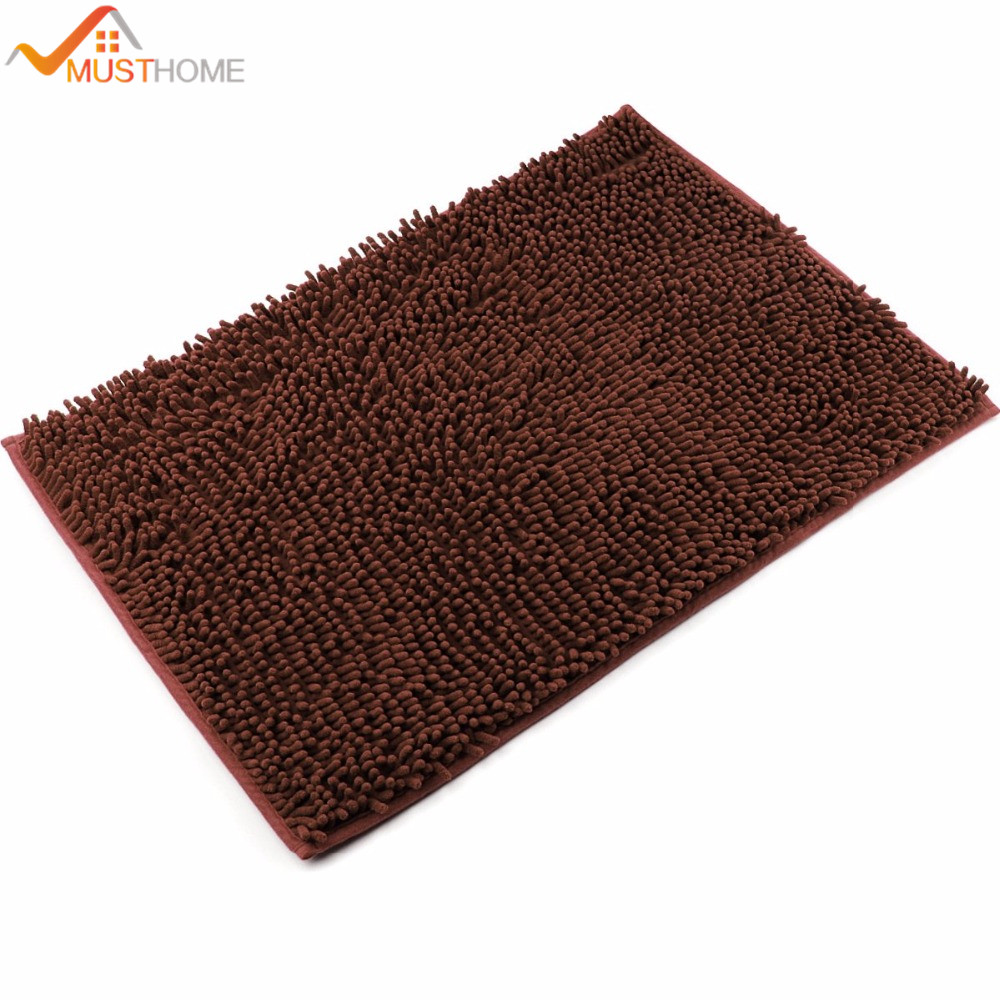 1 order 40x60cm microfiber chenille bathroom rug non slip bath matchina mainland