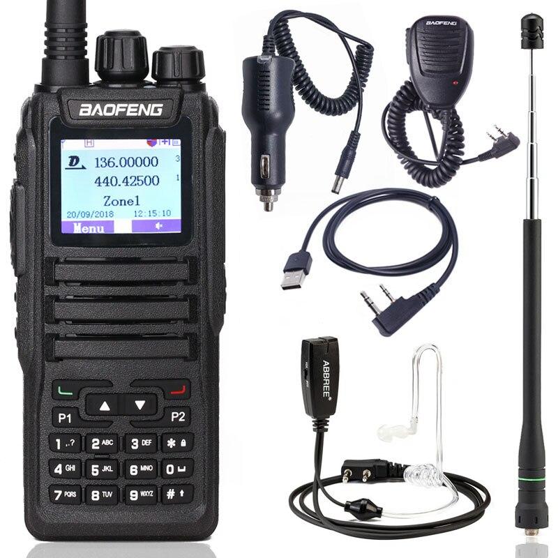 Baofeng DM-1701 Digital Walkie Talkie DMR Dual Time Slot Tier1&2 tier ii Ham CB upgraded of DM-1801 Portable Two Way  Radio