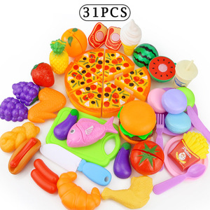 Image 3 - 12 31PCS Cutting Fruit Vegetable Food Pretend Play Do House Toy Childrens Kitchen Kawaii Educational Toys Gift for Girl Kids