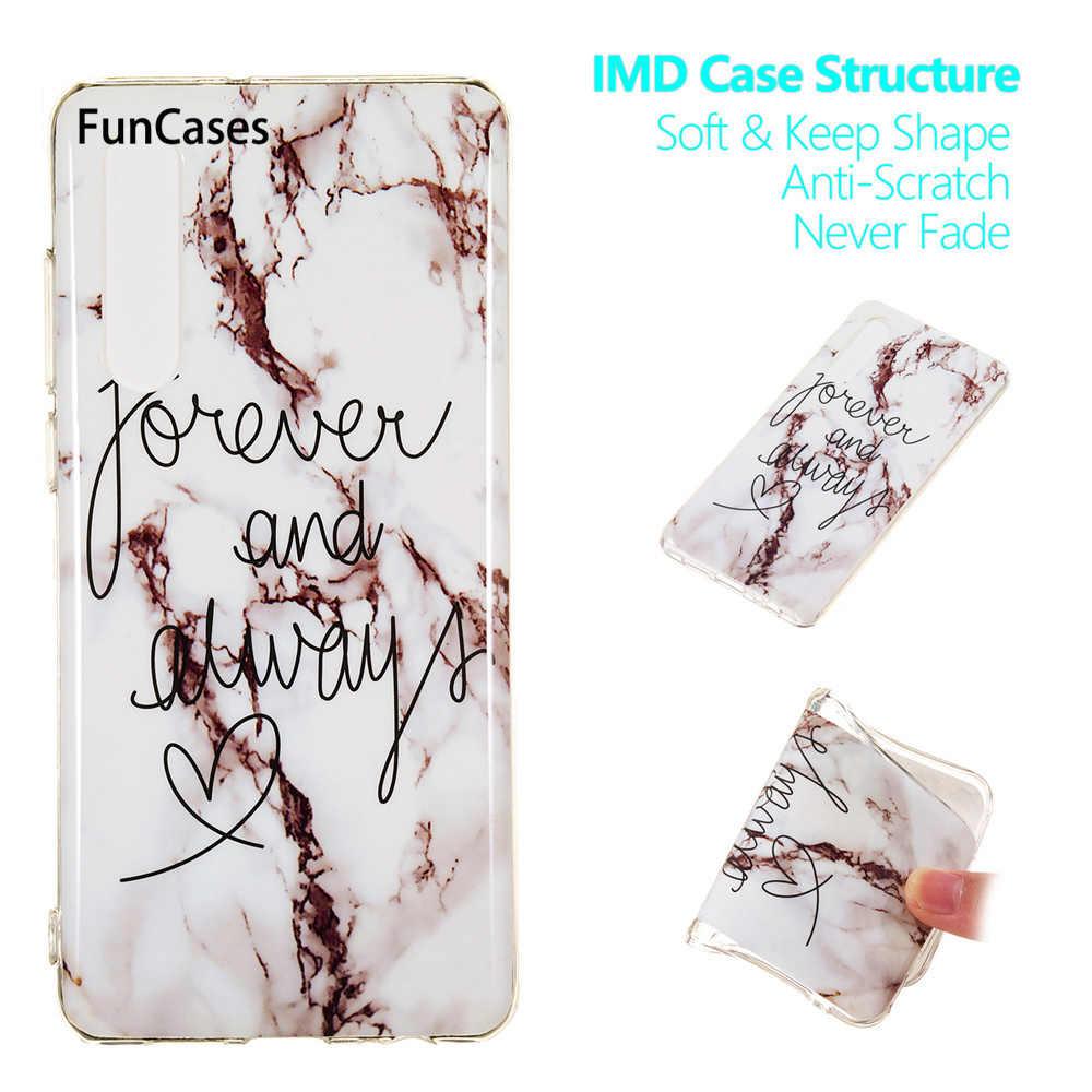 Funda de teléfono de mármol para Huawei P30 Fundas Capa Fundas para Huawei P30 Pro funda trasera blanda de silicona de piedra de mármol coque Hawaii