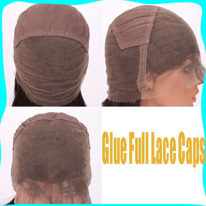 glue full lace cap