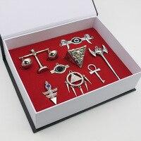 24 תליוני שרשרת cospaly yugioh yu - gi קופסאות\מארז - הו ! מחזיקי מפתחות לוגו משולש של המילניום קיסר סיטונאי משלוח חינם על ידי dhl