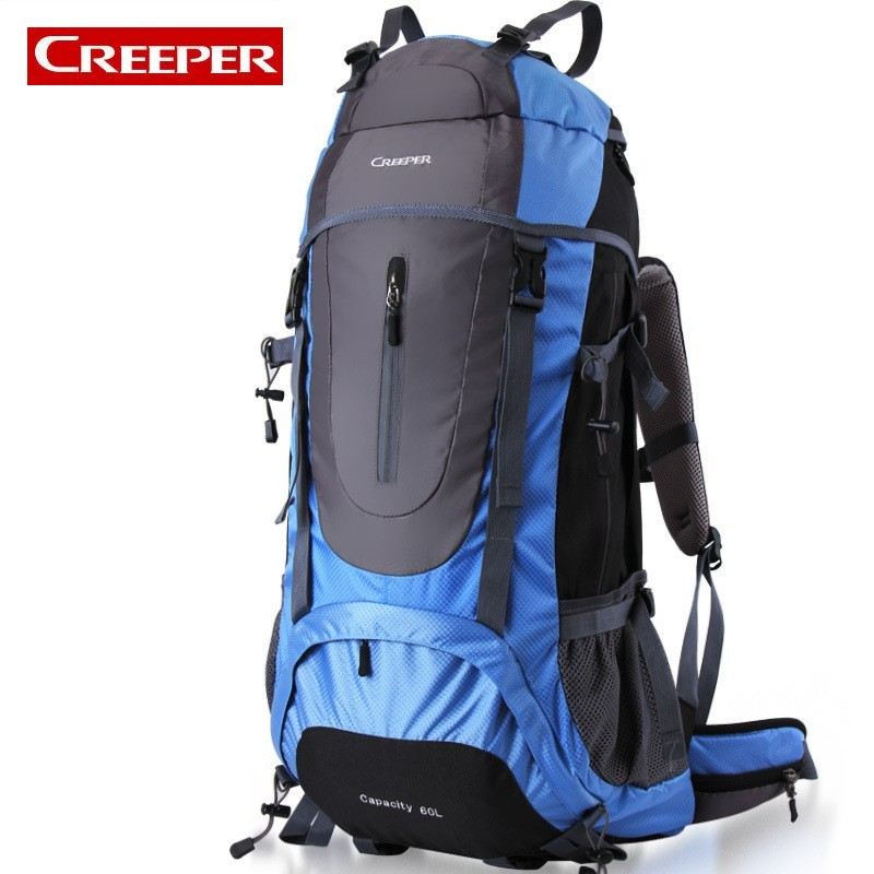 Professional Mountain Climbing 60L Capacity Unisex Sports Bag Outdoor Nylon Waterproof Camping Travel Backpack For Men Women blog flashlight outdoor 5led pocket strong waterproof 8 hours to illuminate mountain climbing camping p004