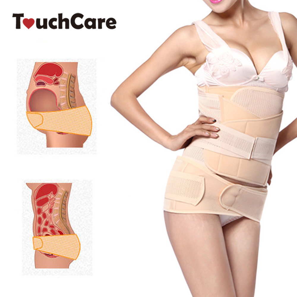 Touchcare 3 Pcs Maternity Postpartum Belly Band Belt Women Abdominal Recovery Bandage Slim Shaping Recovery Corset Serre Ventre network recovery