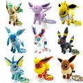 New Cute Eevee Vaporeon Umbreon Espeon Flareon Glaceon Plush Pokemon Soft Toy Doll