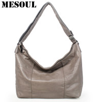 MESOUL Brand Large Capacity Casual Tote Women Genuine Leather Shoulder Bags Ladies Crossbody Bag High Quality Designer Handbags