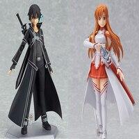 2Pcs/set 15CM Anime Sword Art Online Kirito kirigaya kazuto Yuuki Asuna sao PVC Action Figure Collection Model Toys T3415