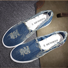 2016 casual shoes new denim cut out canvas shoes flat fashion trend nice comfortable women loafers casual shoes