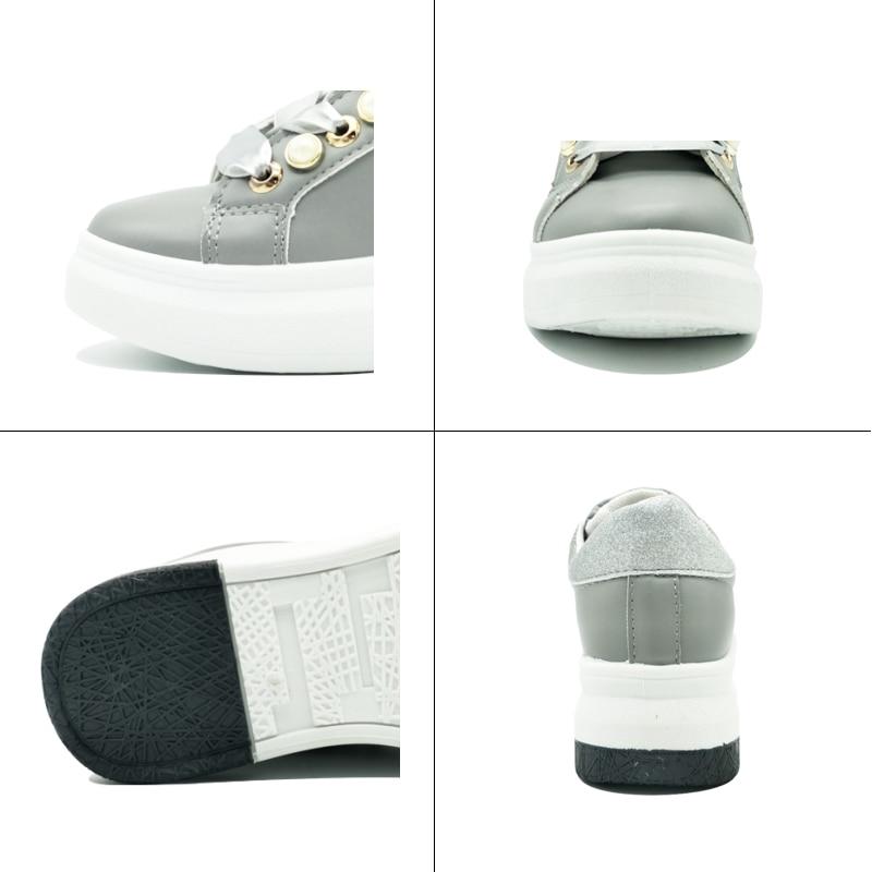 2018 Mode Lente Dames Platform Sneakers Zachte Riband Bling - Damesschoenen - Foto 4