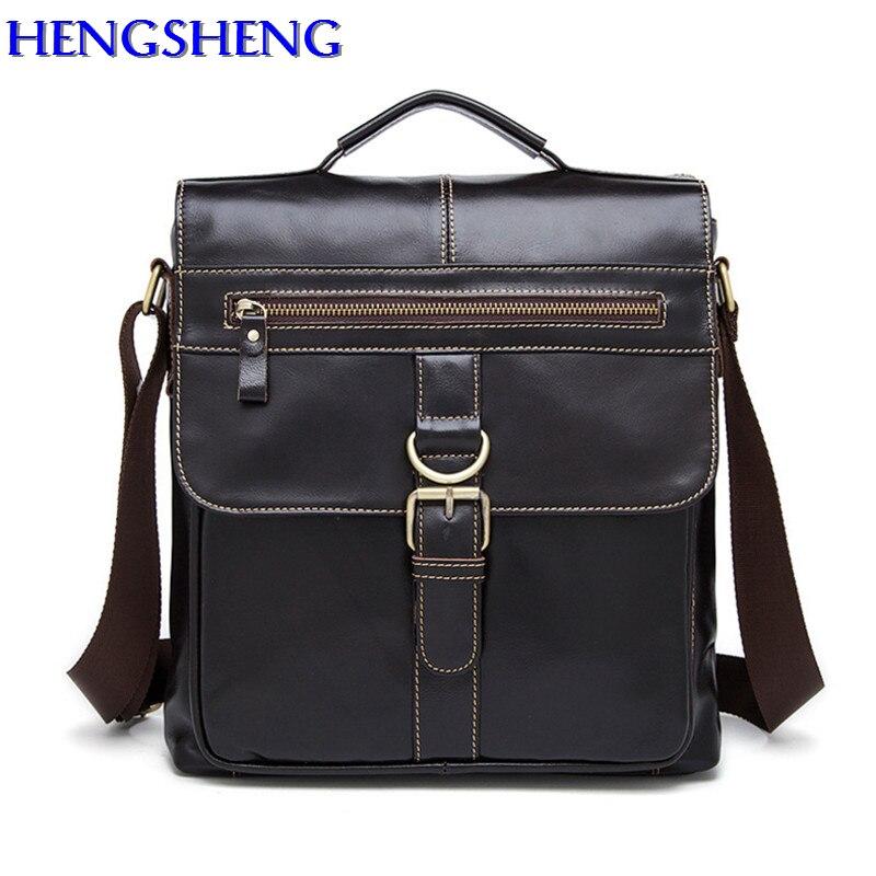 Hengsheng newly style genuine leather men messenger bag with quality cow leather gentlemen shoulder bags for business men bag italians gentlemen пиджак