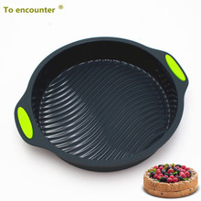 To encounter 9 inch 173G Round Shape 3D Silicone Cake Moulds DIY Baking Tools Bakeware Maker Mold Tray Baking Free Shipping
