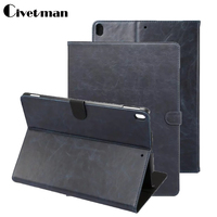 Civetman Crazy Horse Grain Stand PU Leather Protector Skin Shell Business Book Cover Case For Apple iPad Pro 10.5 10.5