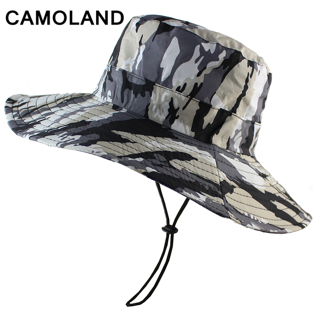 Waterproof Camouflage Boonie Hat Military Bucket Hunting Fishing Men Women  Panama Outdoor Sports Sun Hat Summer Army Lightweight 8112b329735