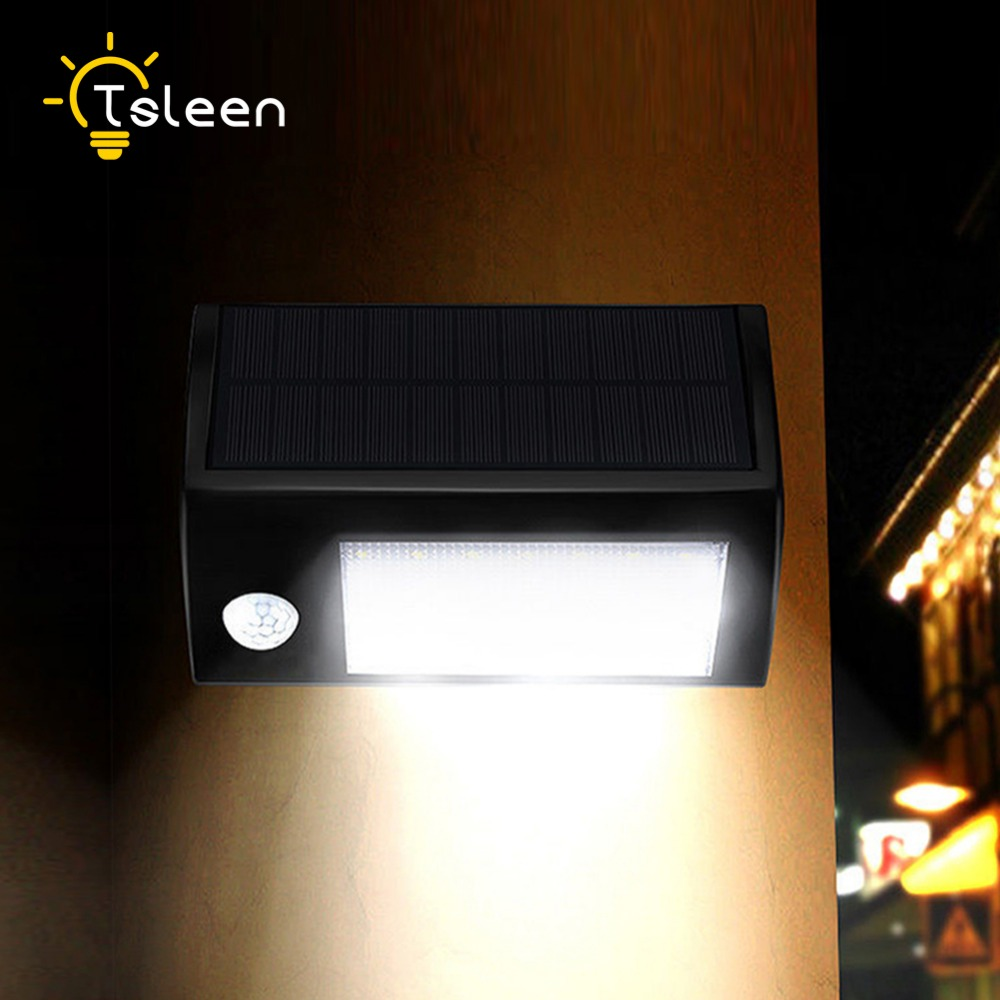 led solar <font><b>light</b></font> outdoor IP65 Solar Power Motion Sensor 32 LED <font><b>Light</b></font> Home Garage Municipal Buildings Security Entrance Wall Lamp
