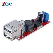 С источником питания от постоянного тока, 6 V-40 V до 5V 3A двойной USB зарядка DC-DC понижающего преобразователя постоянного тока для автомобиля Зарядное устройство LM2596 с двумя портами USB