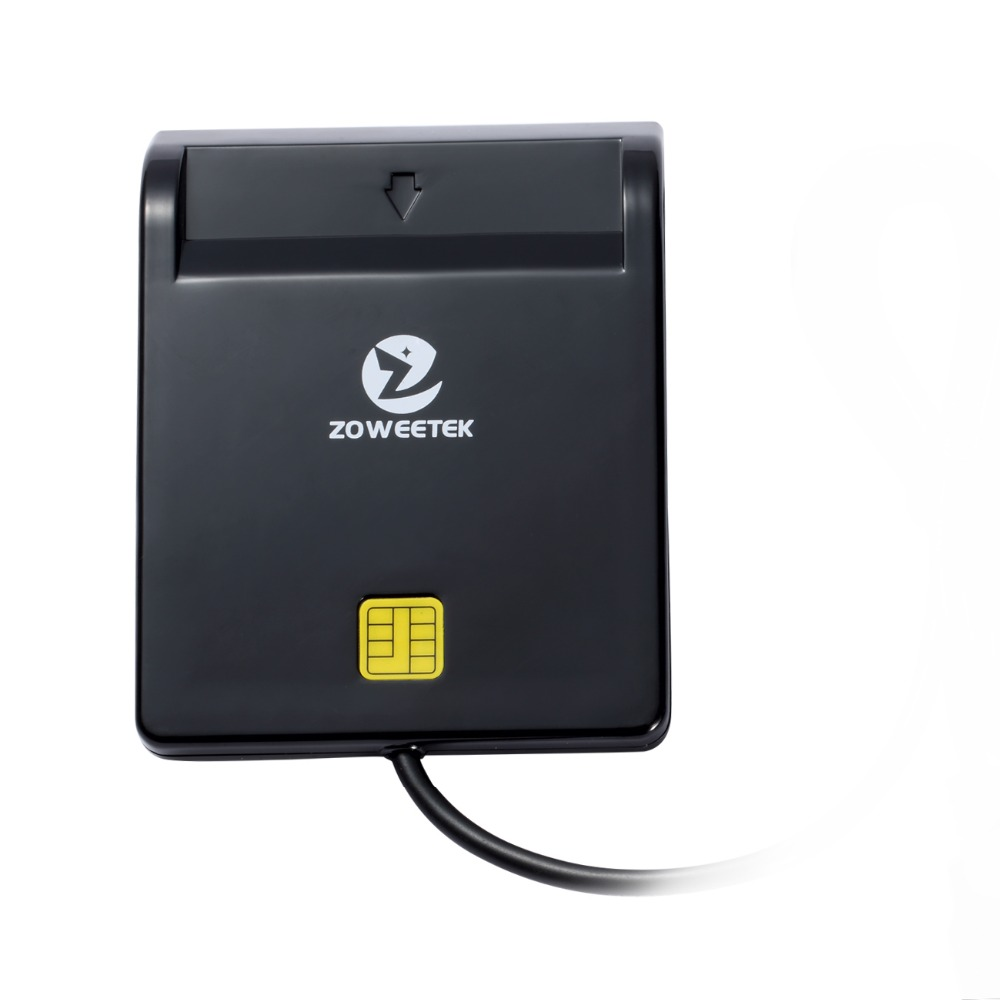 100 piezas Zoweetek 12026-1 lector de tarjeta del Departamento de Defensa Militar USB acceso común CAC inteligentes EMV USB adaptador de tarjeta para SIM/ATM/IC/tarjeta de identificación
