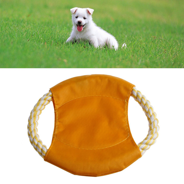 lovely cotton blend rope frisbee dog toys large dogs flying disc tooth resistant outdoor fetch toy