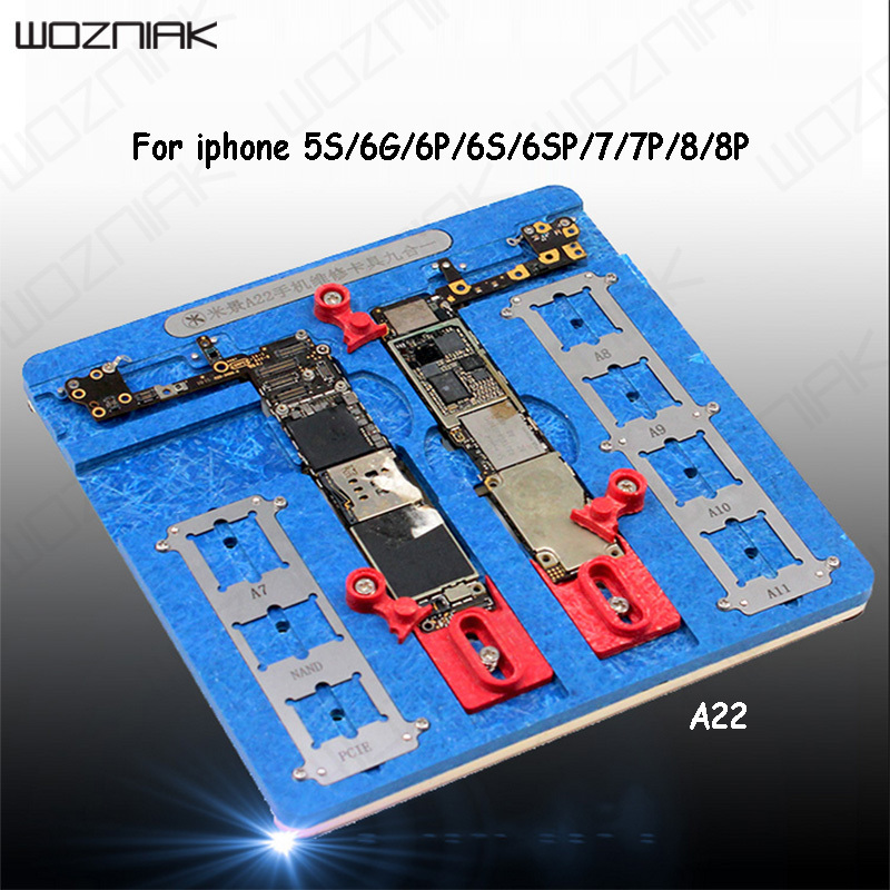 Wozniak Multifunction 9 in 1 Motherboard Repair PCB Holder Jig Fixture For IPhone 5S 6 6S 7 8p A8 A9 A10 A11 Chip Repair Tools newest circuit board pcb holder jig fixture work station for iphone 8 7 6sp 5s logic board a8 a9 a10 chip repair tool