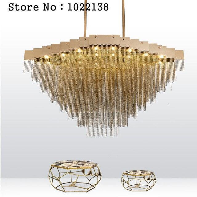 2017 New Modern Aluminum Chain Pendant Light Drop Lighting Fixture For High Ceiling Office Bar