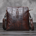 Luxury Brand Design Men Vintage Messenger Bags Male Business Crocodile pattern Style Casual Shoulder Cross Body Bags for Ipad