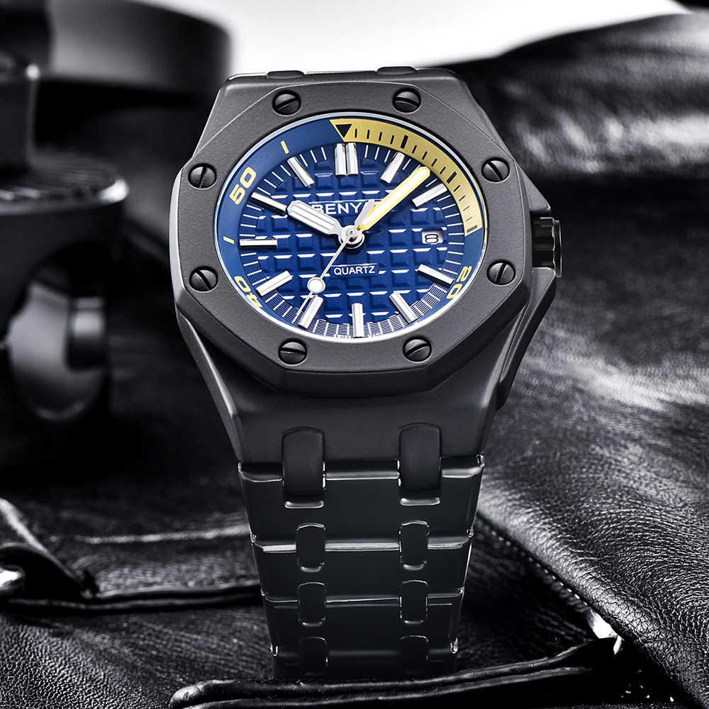 2019 nowe zegarki mężczyźni luksusowa marka BENYAR mężczyźni na co dzień sport zegarki wodoodporna pełny stalowy kwarcowy zegarek męski Relogio Masculino