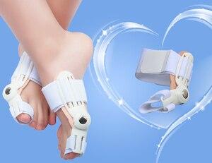 Image 2 - El dedo gordo del pie juanete dispositivo férula enderezador hallux valgus Pro aparatos para dedos del pie corrección dolor en el pie alivio pulgar importa ortésico diario 1pc