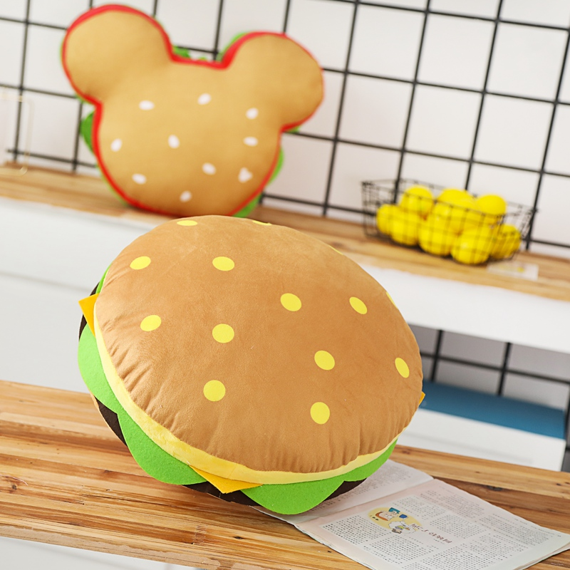 Hamburger Pillow Plush Toys Simulated Mickey Style Office Pillow Creative Birthday Gifts For Children's Toys