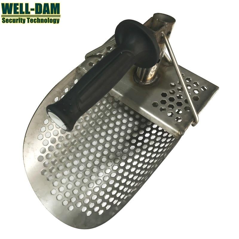 Beach Stainless Steel sand scoop for metal detector hand held beach sand scoop stainless steel metal sand scoop