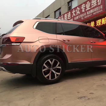 2018 New Rose Golden Metallic Pearl Vinyl Wrap For Car Wrapping Styling Covering Foil With Air Bubble Free Size 1.52*20m