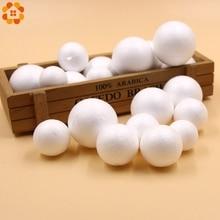 20PCS 30/35/40/45MM DIY White Foam Modelling Polystyrene Styrofoam Ball Kids Gift Christmas Party Decorations Craft Supplies