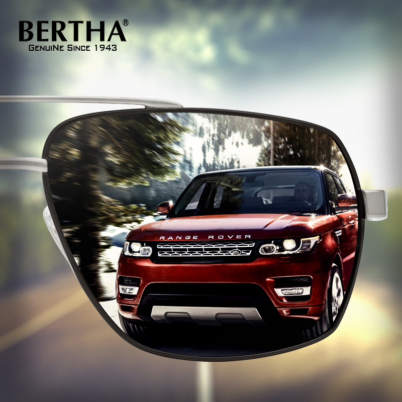 Bertha High Guality Fashion Aviator HD Polarized Sunglasses Men Driving Fishing Glasses Brand Designer For Men 8002