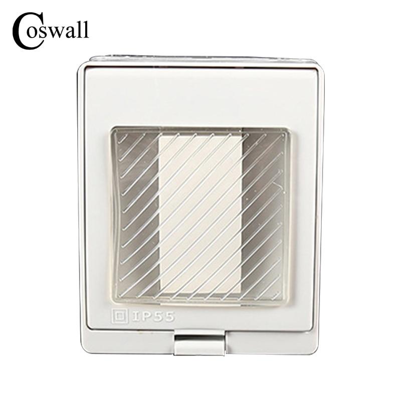 CE Certification IP55 Report Waterproof Dust-proof Outdoor External Wall Switch, 1 Gang Push Button 20A
