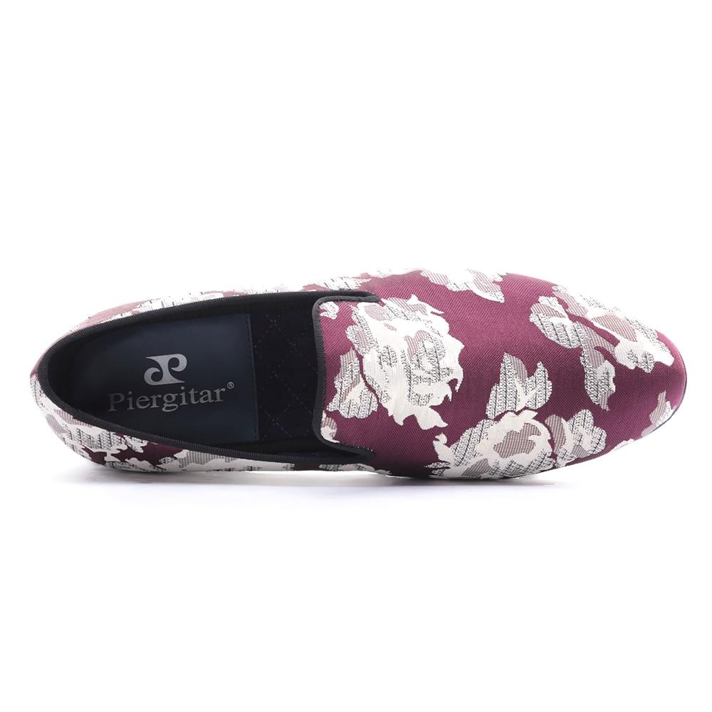 Plus Violet Hommes À La Avec Robe De Partie Jacquard Multi Bal Et Tissu Nouvelle Taille Fleurs Main Appartements Mocassins Blanc Chaussures Arrivée Uxg5vwx0q4