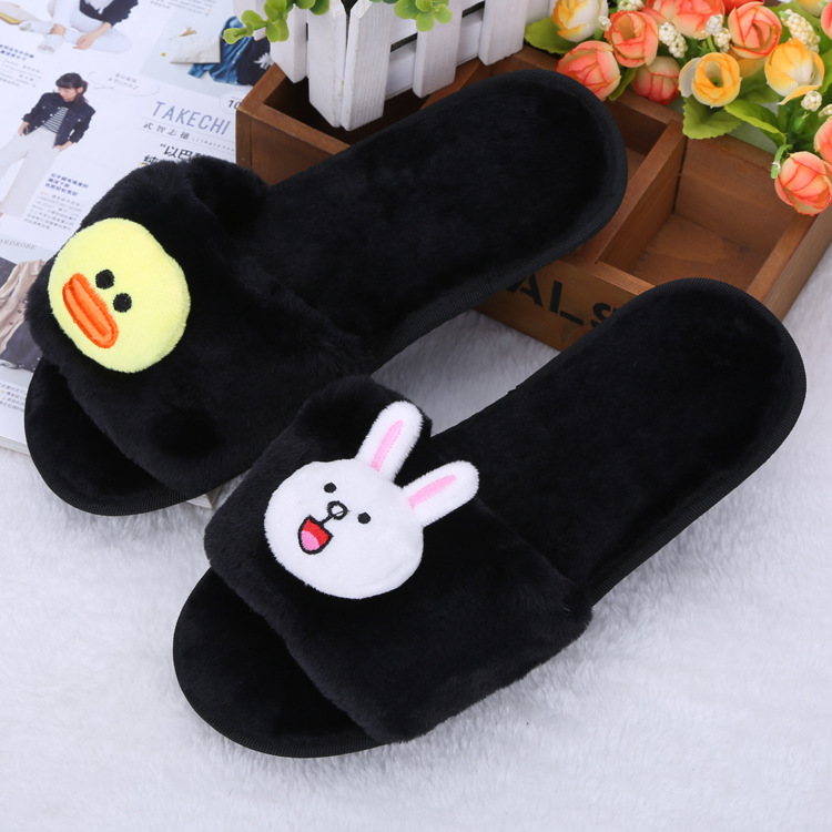 Women Slippers Cute Animals Soft Winter Slippers Shoes Women Slip on Sliders Flat Fashion Female Casual Slipper Flip Flop Sandal in Slippers from Shoes