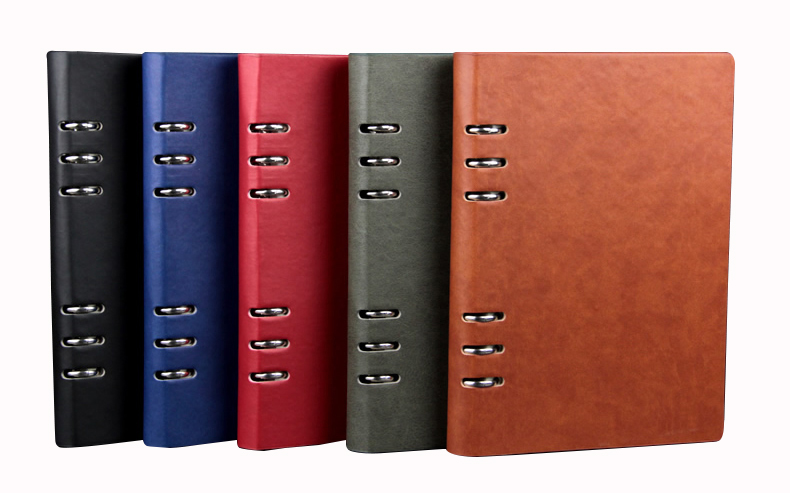 Office Business Good Quality PU Leather Notebook Multifunctional Spiral Journal 90 sheets free gifts
