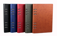 Office Business Good Quality PU Leather Notebook Multifunctional Spiral Journal 90 Sheets