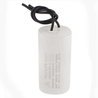 CBB60 AC 450V 16uF Wired Motor Run SH Capacitor 50/60Hz