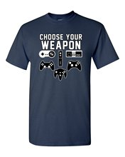 Fashion Men And Woman T Shirt Free Shipping Choose Your Weapon Gaming Console Gamer Funny Dt Adult T Shirt Tee
