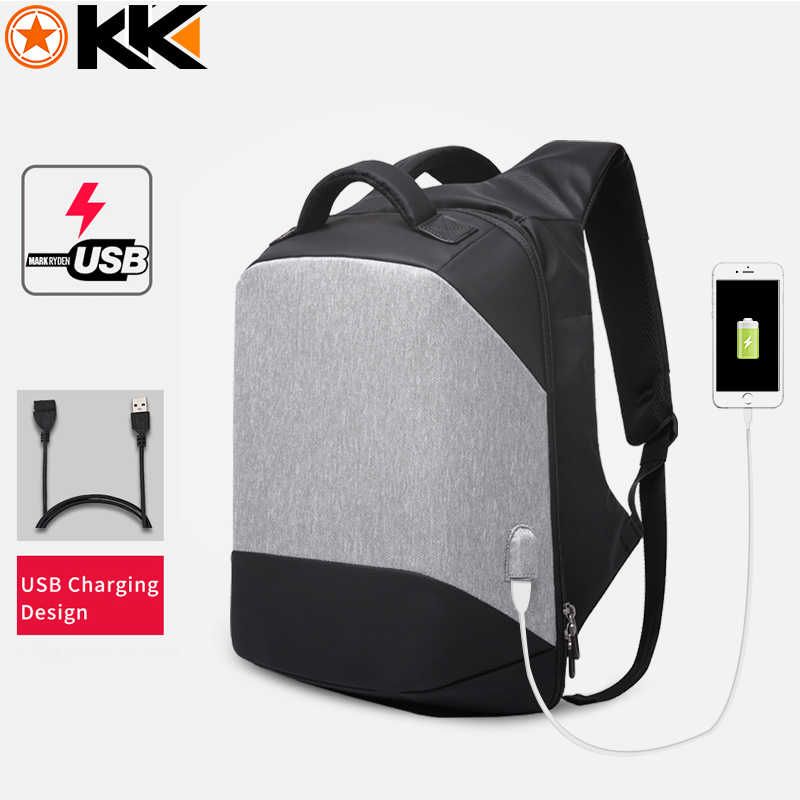 KAKA мужские рюкзаки USB зарядка 15,6 рюкзак для ноутбука Противоугонный водонепроницаемый Mochilas мужской женский удобный рюкзак для путешествий задняя Сумка