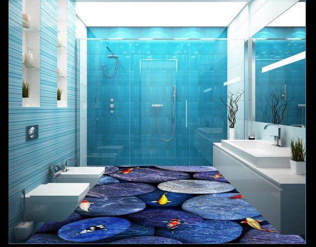 3d Fußboden Fliesen ~ Klassische d bodenbelag wandmalereien neun fisch abbildung boden
