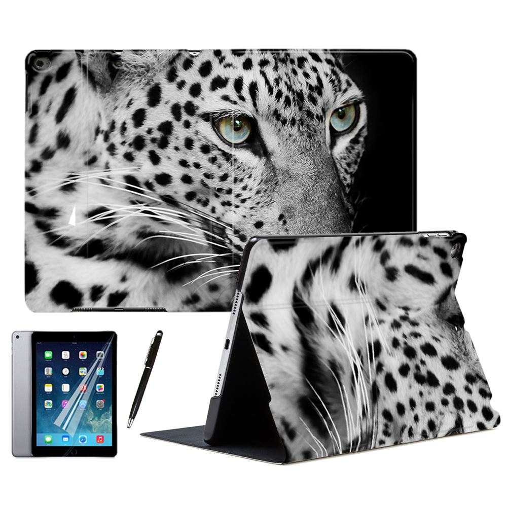 Black Panther Leopard Animal PU Leather Stand Smart Case Cover For <font><b>iPad</b></font> Air 1 2 3 <font><b>9.7</b></font>