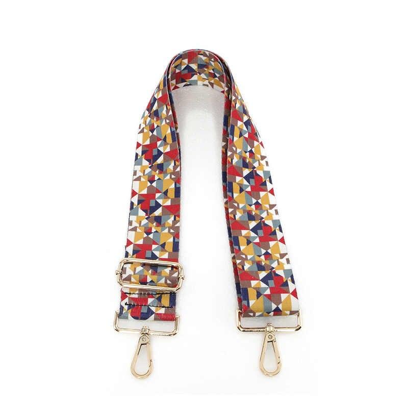 Новинка 2019 года сумки ремень плед треугольники дизайн Национальный отрегулировать холст ремни для сумок новый мода легко держать лямки qn236